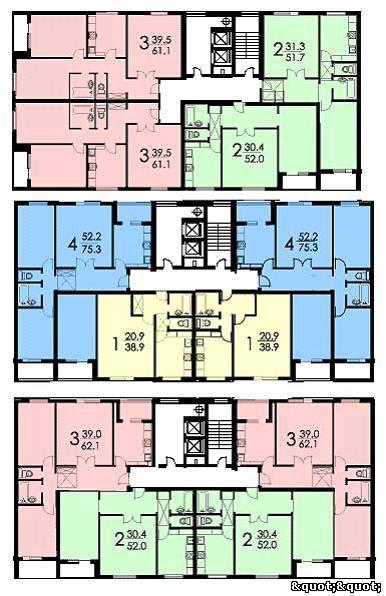 Пример планировки квартир в «